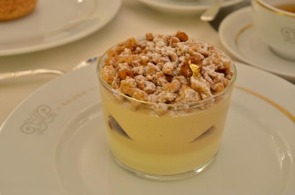 Caramel crème, crème fleur d'orange, pain d'epices et speculos