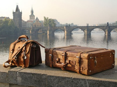 suitcases packed
